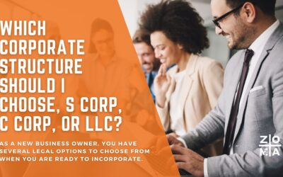 Which corporate structure should I choose, S Corp, C Corp, or LLC?